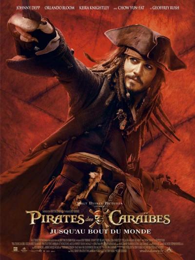 L'affiche de Pirates des Caraïbes: Jusqu'au bout du monde