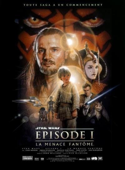 L'affiche de Star Wars, épisode I: La Menace fantôme