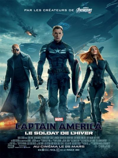 L'affiche de Captain America, le soldat de l'hiver