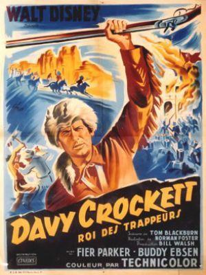 L'affiche de Davy Crockett, Roi Des Trappeurs