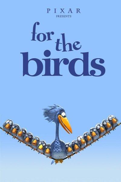 L'affiche de Drôles d'oiseaux sur une ligne à haute tension