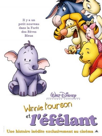 L'affiche de Winnie l'Ourson et l'Efélant