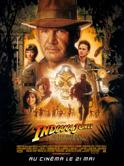 L'affiche de Indiana Jones et le Royaume du crâne de cristal