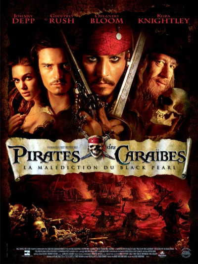 L'affiche de Pirates des Caraïbes: La Malédiction du Black Pearl