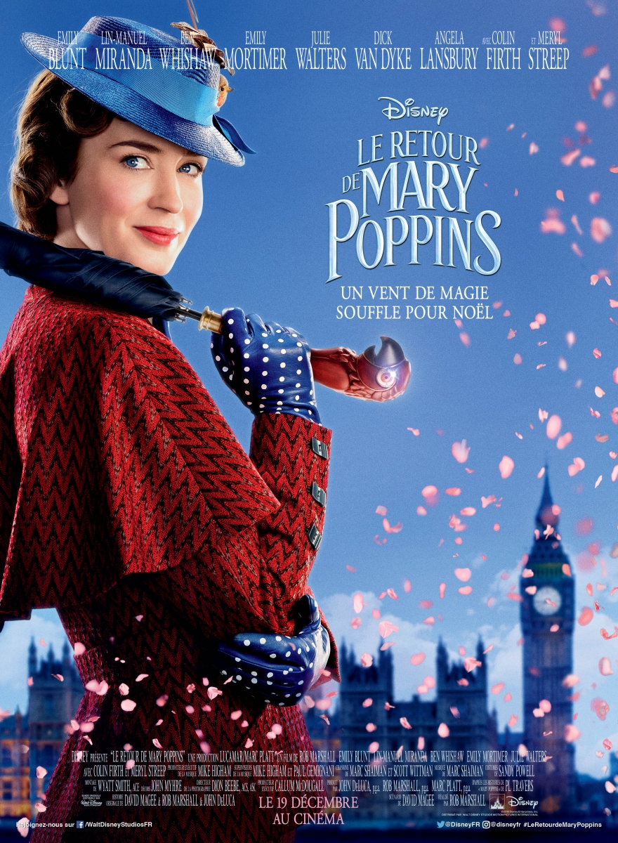 L'affiche de Le Retour de Mary Poppins