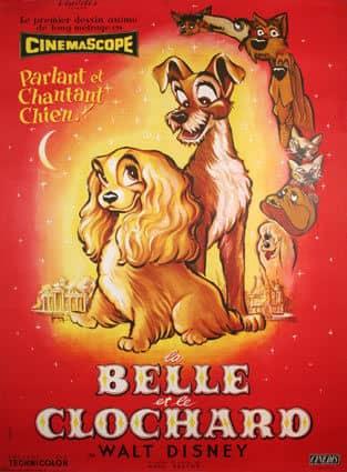 L'affiche de La Belle et le Clochard