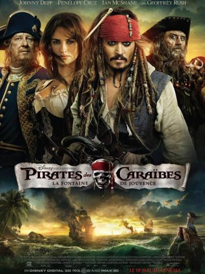 L'affiche de Pirates des Caraïbes: La Fontaine de Jouvence