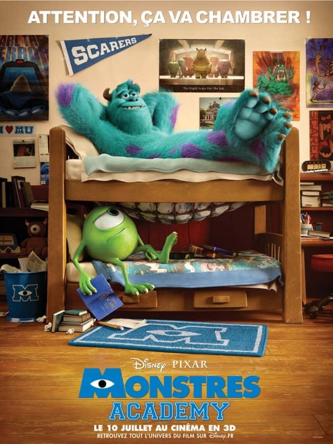 L'affiche de Monstres Academy
