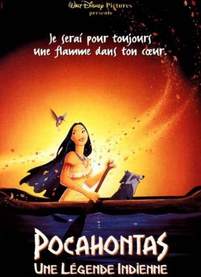 L'affiche de Pocahontas, une légende indienne