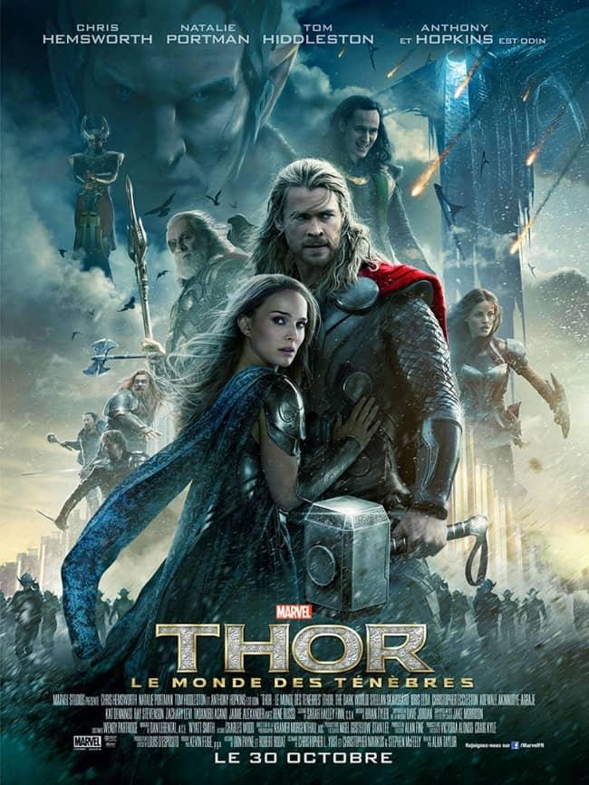 L'affiche de Thor: Le Monde des Ténèbres