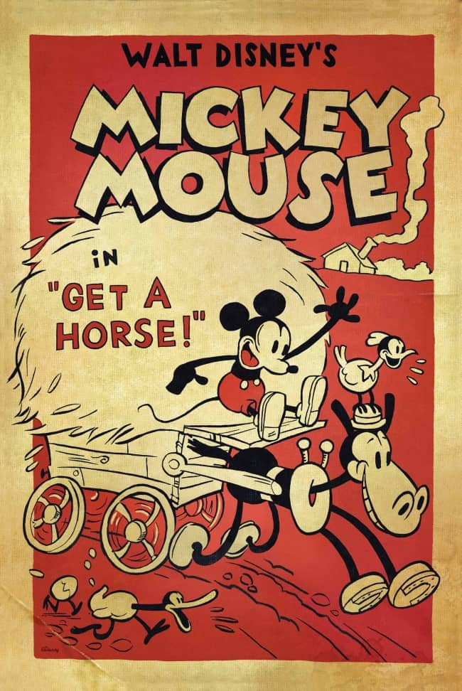 L'affiche de Mickey à cheval