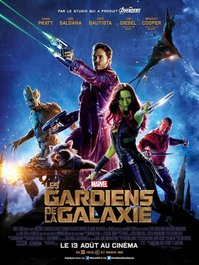 L'affiche de Les Gardiens de la Galaxie