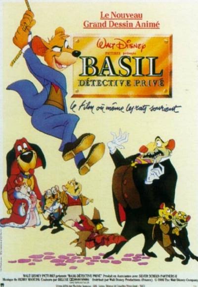 L'affiche de Basil, détective privé