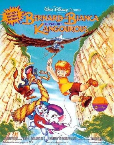 L'affiche de Bernard et Bianca au pays des kangourous