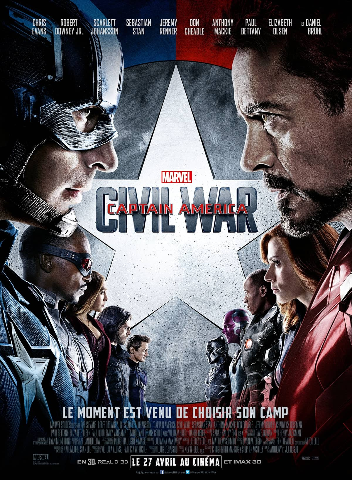 L'affiche de Captain America : Civil War