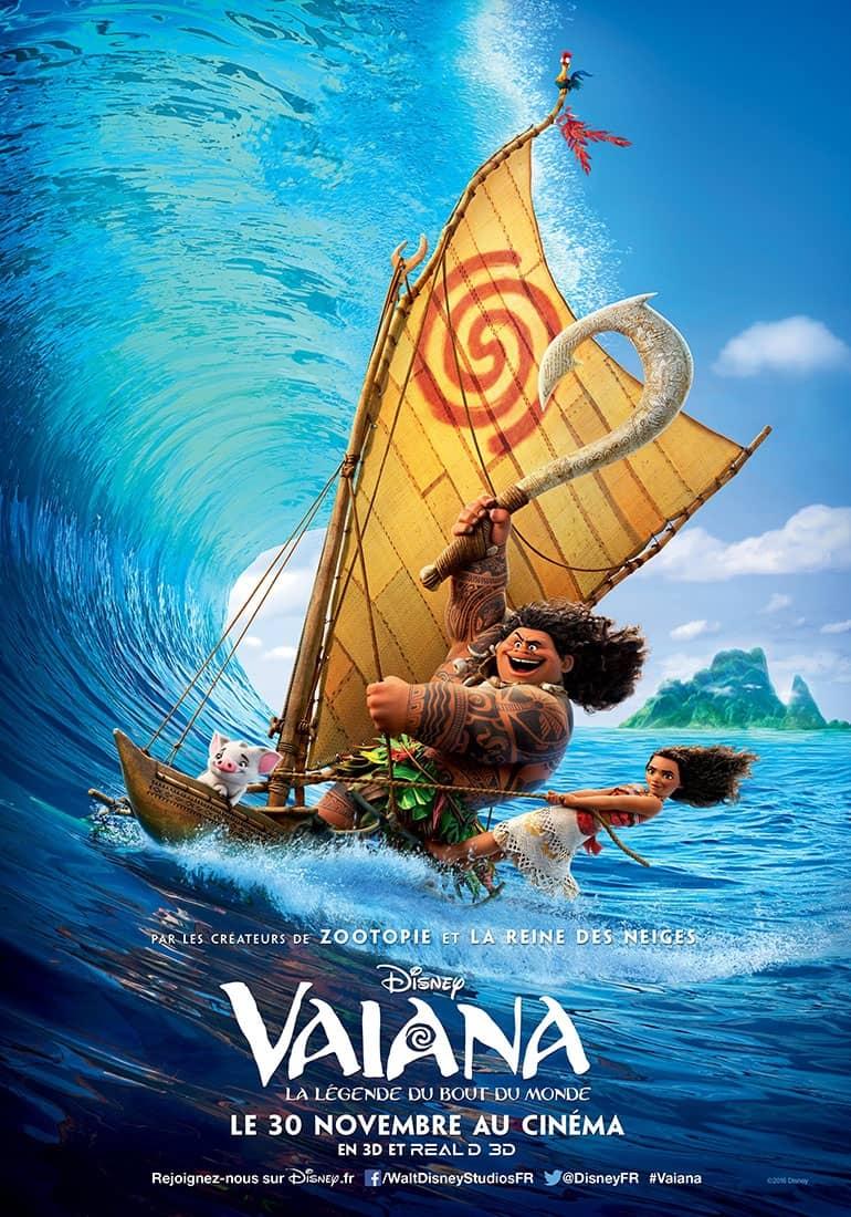 L'affiche de Vaiana, la légende du bout du monde