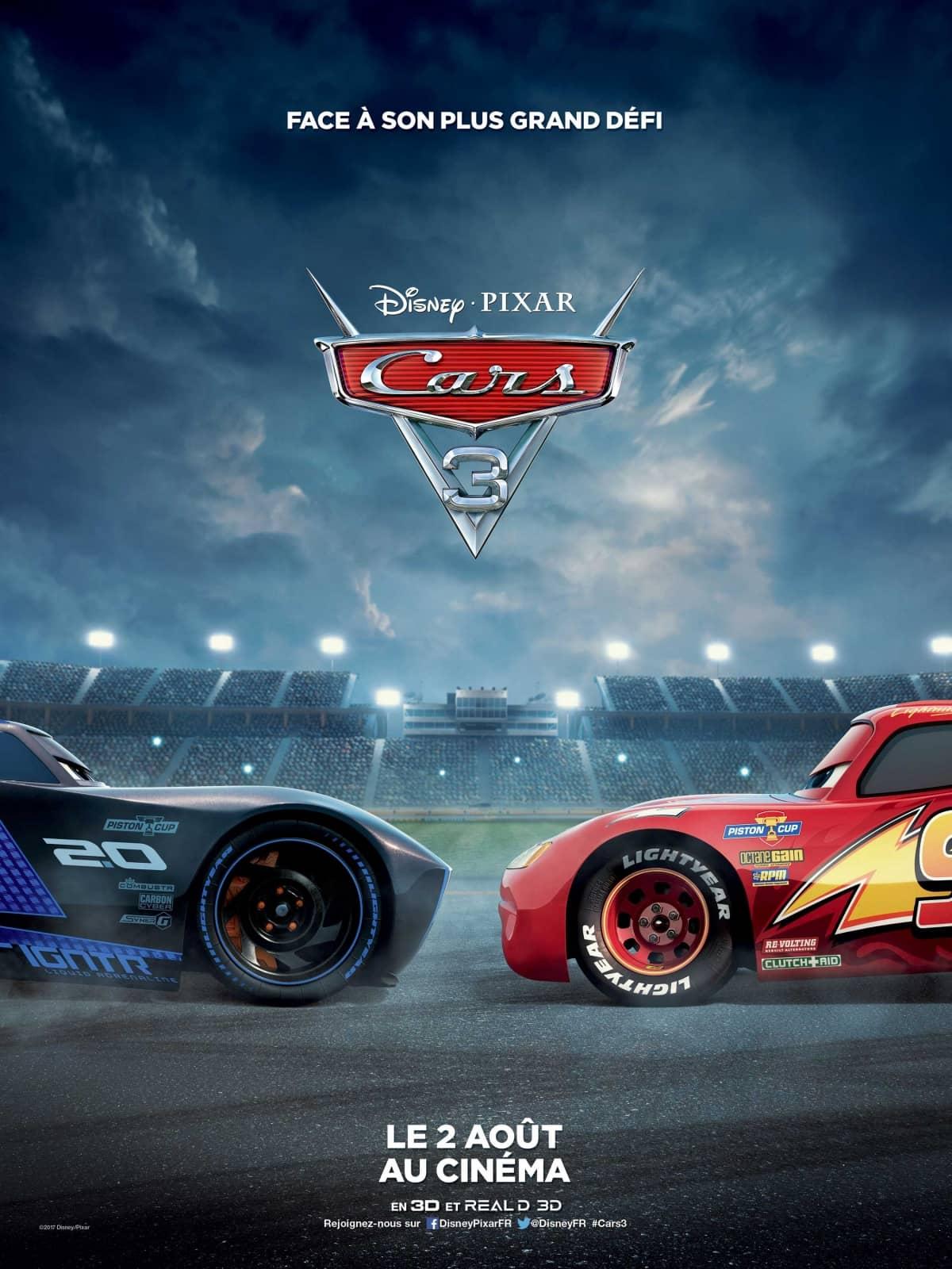 L'affiche de Cars 3