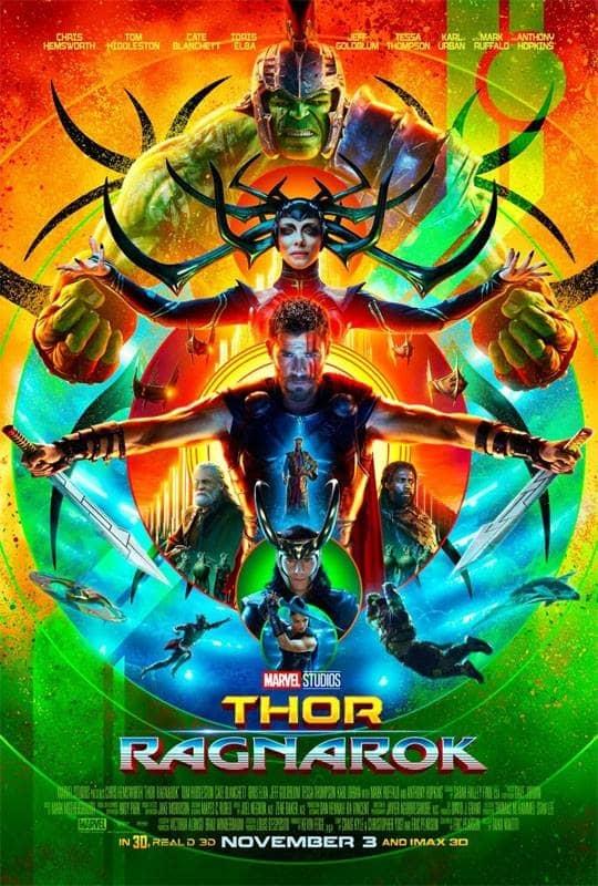 L'affiche de Thor: Ragnarok
