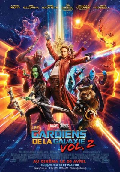 L'affiche de Les Gardiens de la Galaxie vol. 2