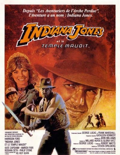 L'affiche de Indiana Jones et le temple maudit