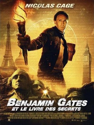 L'affiche de Benjamin Gates et le livre des secrets