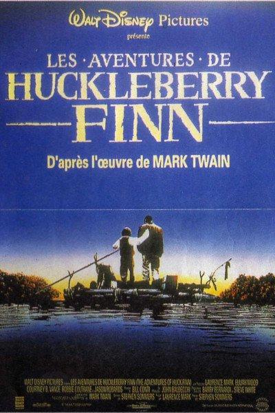 L'affiche de Les aventures de Huckleberry Finn