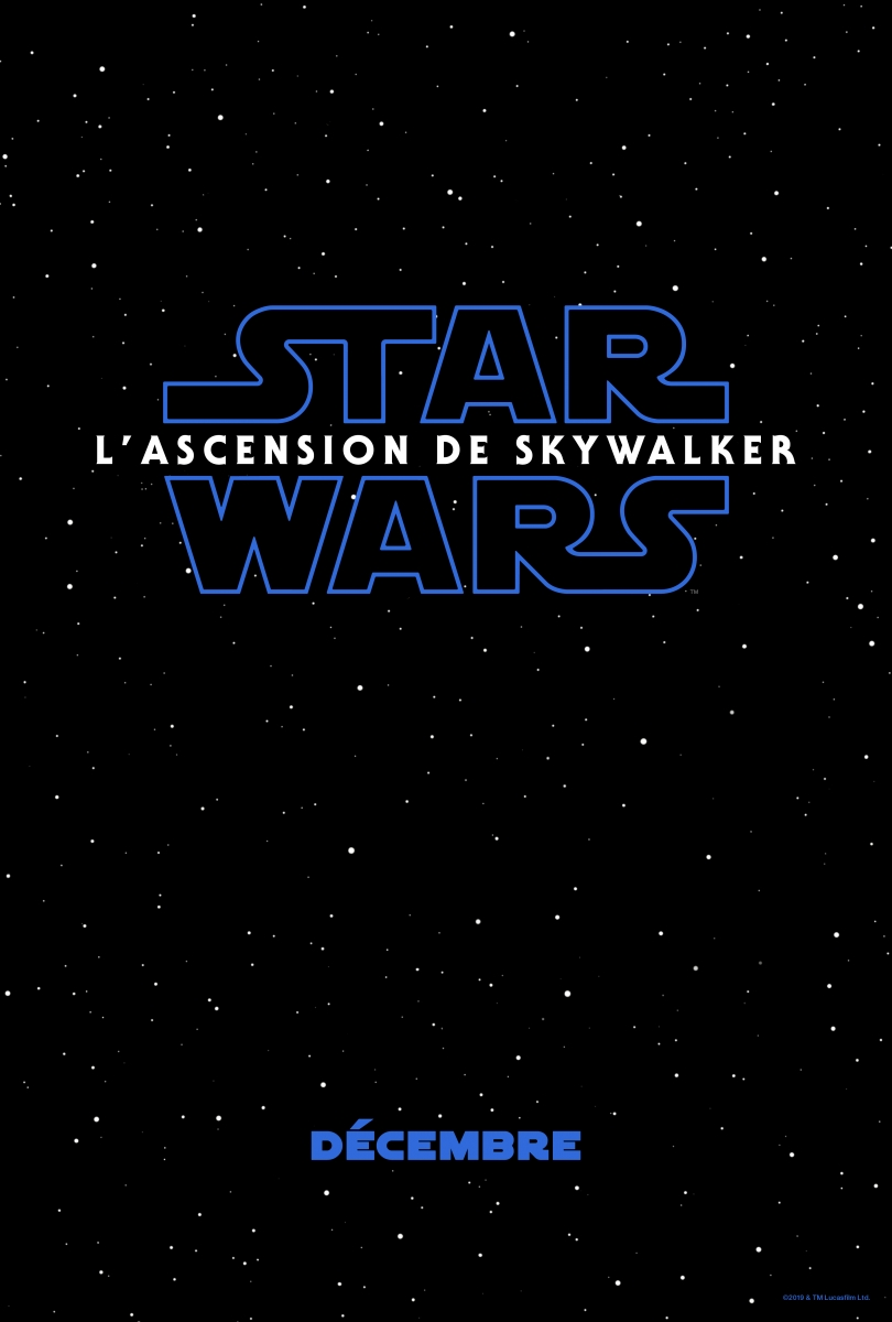L'affiche de Star Wars : L'Ascension de Skywalker