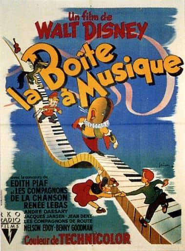 L'affiche de La Boîte à musique
