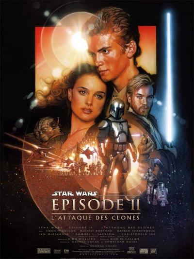 L'affiche de Star Wars, épisode II: L'Attaque des clones