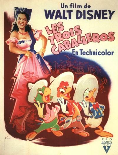 L'affiche de Les Trois Caballeros