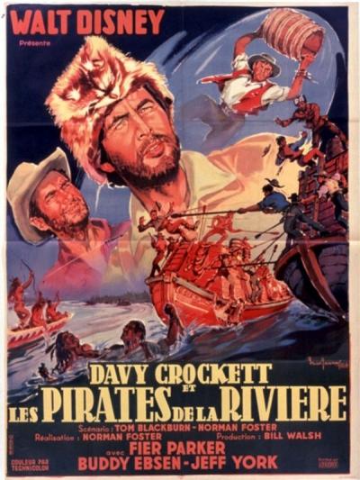 L'affiche de Davy Crockett et les Pirates de la rivière