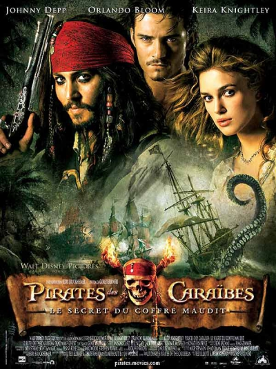 L'affiche de Pirates des Caraïbes: Le Secret du coffre maudit