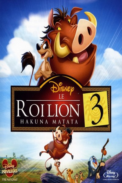 L'affiche de Le Roi Lion 3: Hakuna Matata