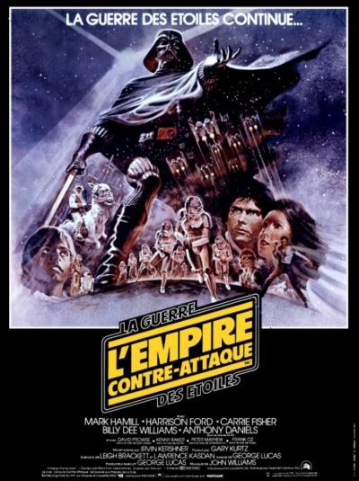 L'affiche de Star Wars, épisode V: L'Empire contre-attaque